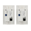 FULL HD 1080P HDMI WALL PLATE EXTENDER OVER single CAT5E / 6, TRANSMISSION DISTANCE UP TO 50M/170ft supporting EDID IR
