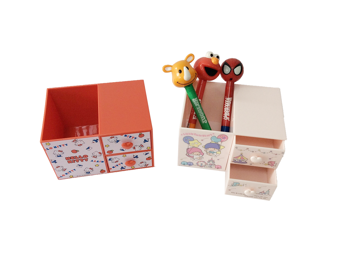 Plastic stationery boxes