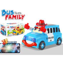 B / O Plastic Bus avec 3D Light Vehicle Toy (H6614047)