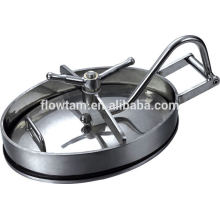 elliptic type stainless steel water tank manhole(with pressure)