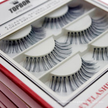 Wholesale Private Brand Custom Logo Packing Box Hand Made 3D 5D Real Mink Lash Strip Eyelashes Cotton Terrier Black Color for Daily Use