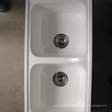 Verschiedene Designs Hochtemperaturbeständige Ein & Halb Schüssel Waschbecken