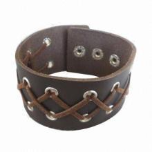 Punk Rock Style PU Bracelets, Cool and Fashionable