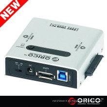 ORICO 2012SUS3-C 2.5 3.5 5.25 SATA a USB 3.0 eSATA disco duro CLONE Adaptador HDD 2bay SATA duplicador portátil HDD