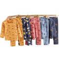 Ensemble de pyjama de nuit en coton unisexe à manches longues pour garçons et filles