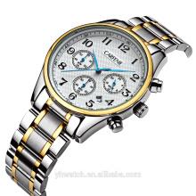 relógios de aço inoxidável do à prova de água do relógio de pulso 50atm da cronografia