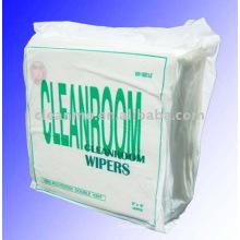 100% Polyester Cleanroom Wipes (utilisé pour l'électronique, semi-conducteur, disque dur, optique-électronique)
