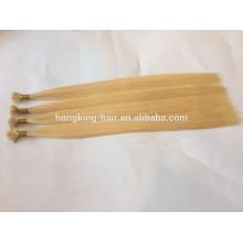 Cheveux de Remy Humains Indiens Double Drawn 10-28 pouces # 24 Kératine Colle Extensions de Cheveux Pointe Plat