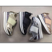 New design power Fashion lady Sport running shoes transparent thick sole sexy women shoes sneakers