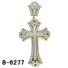 Colgante micro de la cruz del ajuste de la materia de los hombres de la plata esterlina 925.