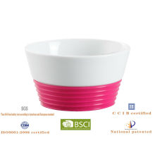 ceramic bowl with silicone sleeve