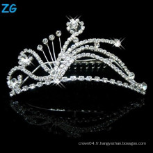 Fashion crystal wedding hair accessories peignes, peignes métalliques