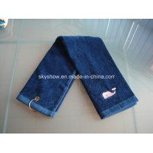 100% хлопок Гольф полотенце с вышивкой (SST1017)
