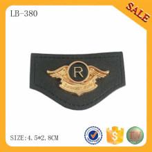 LB380 Echte Custom Private Leder Label Patch / benutzerdefinierte Logo Leder Jacke Patches