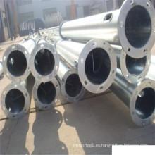 Precios de poste de la lámpara solar galvanizada en caliente 3m-12m de postes de acero