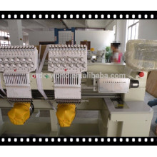 Computerized Embroidery Machine with 2 heads for cap, towel, garment, jackets embroidery price