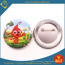 Blood Donation Tin Button Badge in Cute Style