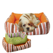 Thick Stripe Fabric Deluxe Pet Bed with OEM Logo Hot Sale (YF72047)