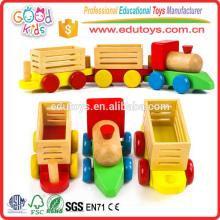 Brinquedos educativos de trem de crianças de madeira de 3 anos de idade novos para venda