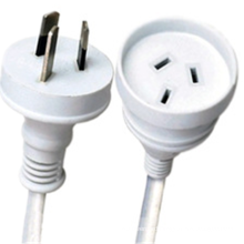 Australia 3 pin  flat pin plug extension power lead cable with mains lead AU SAA