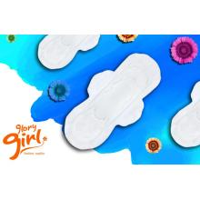 Feminine dry weave sanitary napkins with comfort