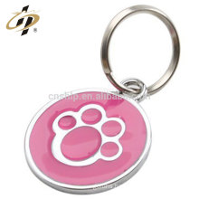 Hot sale custom logo enamel metal trolley coin token keychain for wholesale