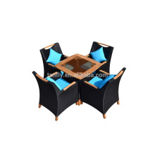 pe outdoor rattan garden coffee shop tables and chairs
