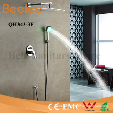 Shower Faucet Self-Powered LED Wall Mount Rainfall Cabezal de ducha