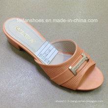 Nouveau Style Bonne Qualité Mode Dames Chaussures PU Sandales (JH160523-6)