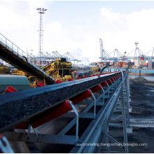 Ske Overland Long-Distance Curved Rubber Belt Conveyor in Stock