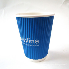 Set of Ripple Wall Paper Cup and Plate with Customized-Rwpc-30