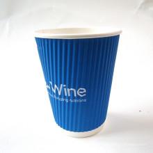 Conjunto de copo de papel de parede de Ripple e placa com Customized-Rwpc-30