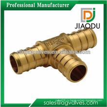 Производство высококачественного фарфора горячая продажа cw617n или cw614n медный тройник для труб