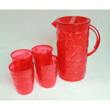 Plastic Water Juce Jug with Cups