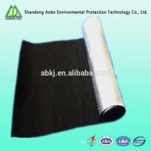 Ventas durable 1.5-10mm Fibra resistente al fuego fieltro \ el fieltro de fibra de carbono con membrance metálico
