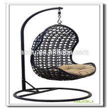 Audu Patio Rattan Swing Hanging Egg Chair Escolha de qualidade