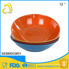 "china supplier wholesale melamine bamboo 12"" large plastic salad bowls"