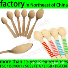 Various Disposable Wooden Coffee Spoons