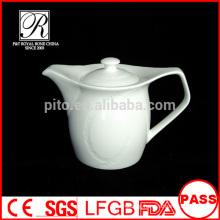 P&T porcelain factory square shape tea pots, coffee pots, ceramics white pot