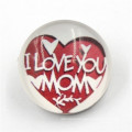 18mm Custom ′i Love Mom′ Button Resin Snap Button for Brecelet