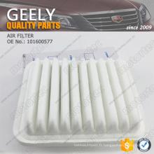 filtre à air de pièces de rechange geely 101600577
