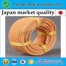 Corde de kp tordue de couleur orange 3 brins pour le marché du Japon