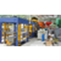Construction bâtiment bloc de ciment de moteur diesel et machine de fabrication de briques à vendre
