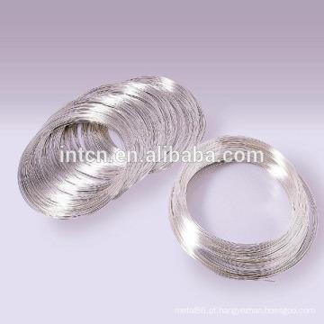 Fios de liga de prata