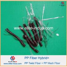 PP Polypropylène Hybrid Blend Macrofiber Twisted Bundle Fibre 54mm