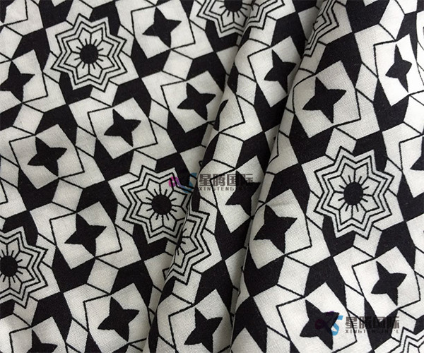 Popular Geometric Flower Print Rayon Fabric