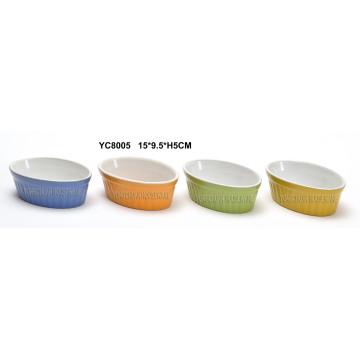 Ceramic Oval Bakeware Set