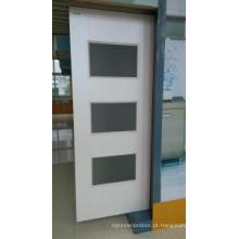 Porta composta plástica de madeira