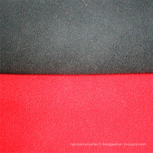 Tissu composite tricoté uni en molleton polaire bicolore
