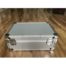 Caja de equipo de aluminio blanco con impresión a doble color